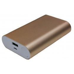 Портативный внешний аккумулятор PALMEXX 1*USB металлический корпус /10000mAh/ (золотой)