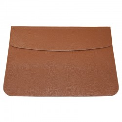 """Чехол MacCase для MacBook Air 13.3"""" кожзам /коричневый/"""