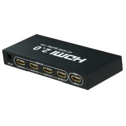 Сплиттер PALMEXX 1HDMI*4HDMI 4K (2160P, 3D, HDMI V2.0)