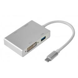 Кабель PALMEXX USBC 4 in 1 HDMI-USB3.1-VGA-DVI