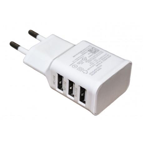 Зарядное устройство быстрое Quick Charge 2.0 сети 3*USB /5V-2A quick charge, 9V-1,67A