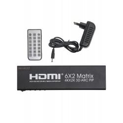 Матрица PALMEXX 6HDMI*2HDMI 3D ARC PIP 4K/30Hz (2160P, HDMI 1.4b)