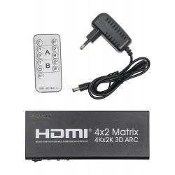 Матрица PALMEXX 4HDMI*2HDMI ARC 4Kx2K/30Hz (2160P, HDMI 1.4b)