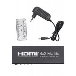 Матрица PALMEXX 4HDMI*2HDMI 4K/60Hz YUV 4:4:4 HDR ARC (2160P, 3D, HDMI V2.0)