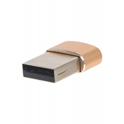 Переходник PALMEXX USB Type C - USB / золотой