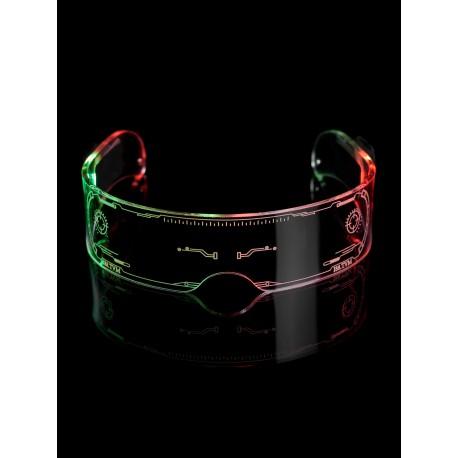 """Светодиодные очки PALMEXX """"Cyberpunk style"""" 3 режима свечения+ручная смена цветов"""