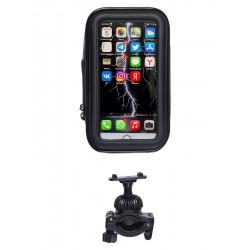 Держатель на руль велосипеда с защитным чехлом для смартфона /размер M/ LUX