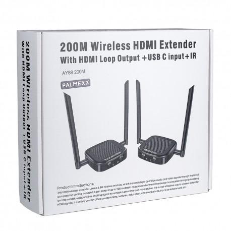 Беспроводной удлинитель HDMI до 200 метров (sender+receiver) PALMEXX
