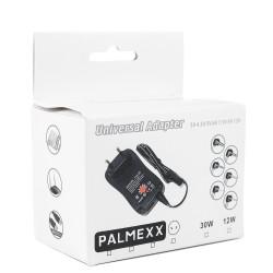 Универсальный адаптер питания PALMEXX 30W 3V/4.5V/5V/6V/7.5V/9V/12V/USB5V2.1A