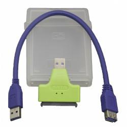 Кабель PALMEXX USB3.0-SATA (конвертер + пластиковый бокс)