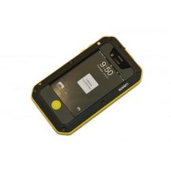 """Чехол для Apple iPhone 4 """"LUNATIK"""" /черный-желтый/"""