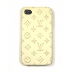 Чехол для iPhone 4G LV бежевый