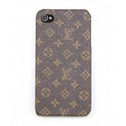 Чехол для iPhone 4G LV коричневый
