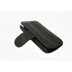 Кожаный чехол HTC Desire S с пластиковым держателем