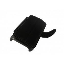 Кожаный чехол Samsung i9001 Galaxy S Plus с пластиковым держателем