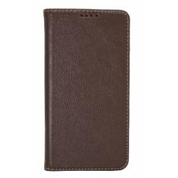 Кожаный чехол PALMEXX для Samsung Galaxy S6 книга /коричневый/