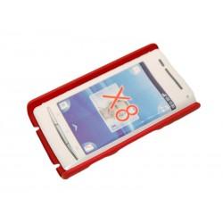 Чехол HARD CASE для Sony-Ericsson Xperia X8 /бордовый/