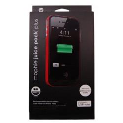 Чехол с аккумулятором для iPhone 4 Mophie /2000mAh/красный/