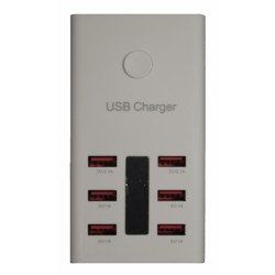 Зарядное устройство PALMEXX от сети на 6хUSB порта /5.0V 6A/