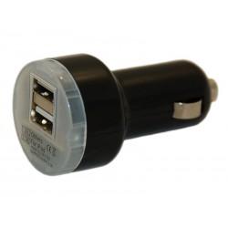 Зарядное устройство от прикуривателя автомобиля на 2xUSB порта DH /5V 3,1A/черный/