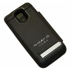 Чехол-книга с аккумулятором для Samsung G900 Galaxy S5 /3800mAh/черный/