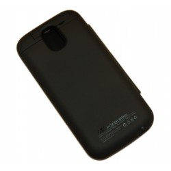 Чехол-книга с аккумулятором для Samsung i9500 Galaxy S4 /3200mAh/черный/